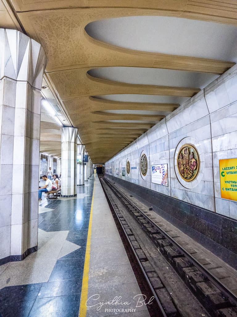 Xalqlar Do'stligi Bunyodkor Metro Station Tashkent - Journal of Nomads