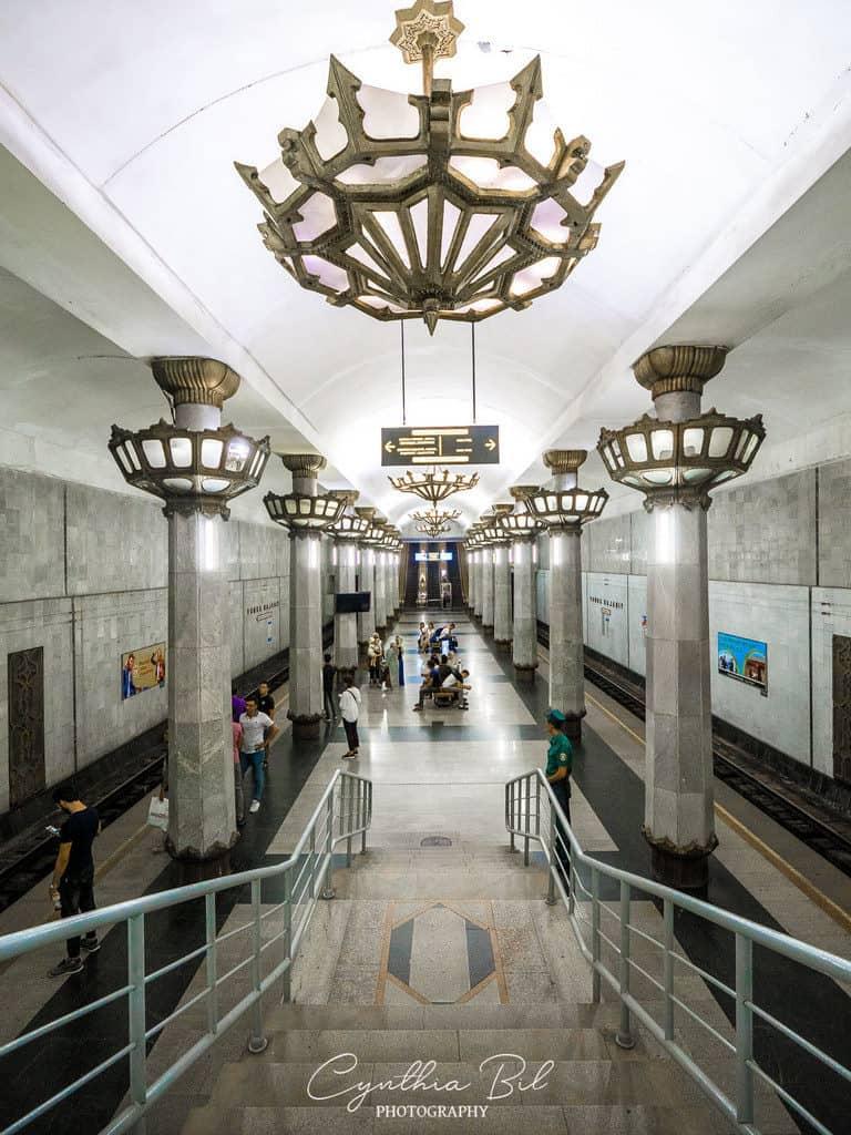 Tashkent metro Yunus Rajabiy metro station - Journal of Nomads