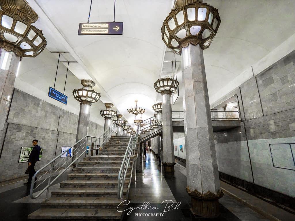 Best metro Tashkent stations Uzbekistan subway - Yunus Rajabiy metro - Journal of Nomads