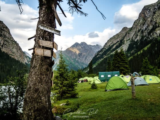 camping near the bridge Ala Kul - Journal of Nomads