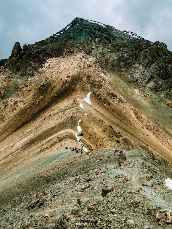 dangerous paths - Ala Kul trek - Kyrgyzstan