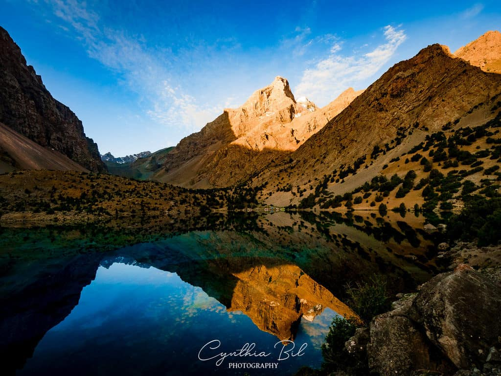 Sunrise Alauddin Lakes Fann Mountains Tajikistan