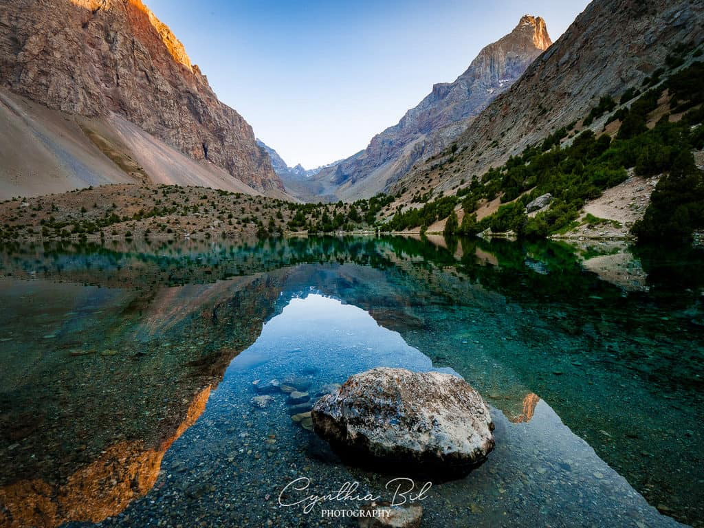 Sunrise Alauddin Lakes Fann Mountains Tajikistan