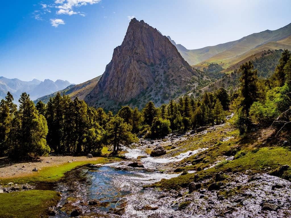 Trekking to Alauddin Lakes Fann Mountains Tajikistan