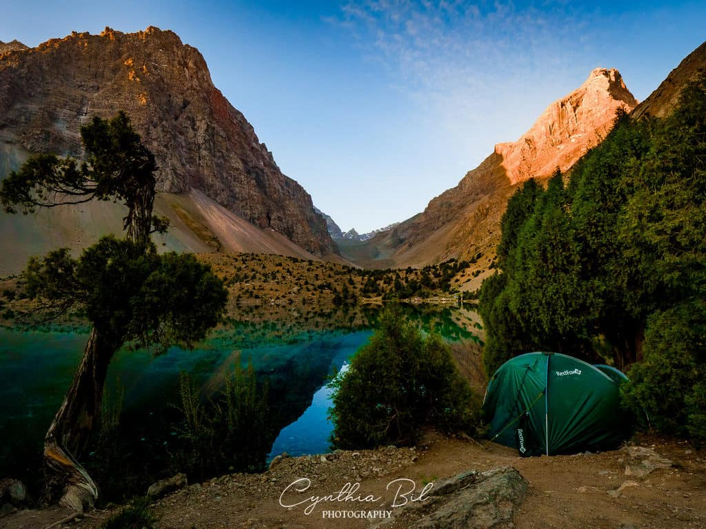Camping at Alauddin Lakes Tajikistan Fann Mountains