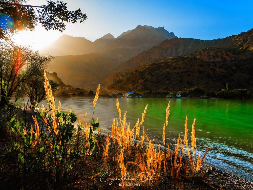 Sunrise at Iskanderkul Lake Tajikistan
