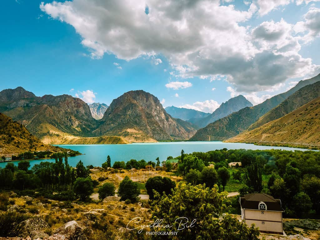 Panoramic view over Iskanderkul Lake Tajikistan - Journal of Nomads