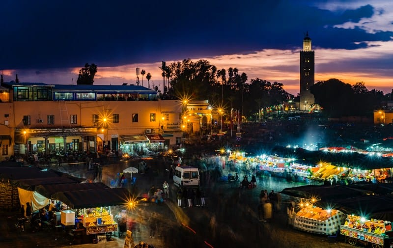 Marrakech at night - nightlife in Marrakech