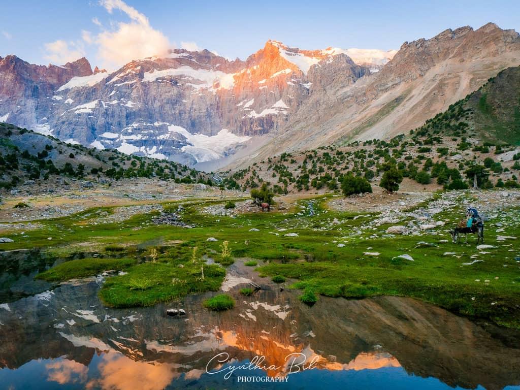 Sunrise Kulikalon Lakes Fann Mountains Tajikistan