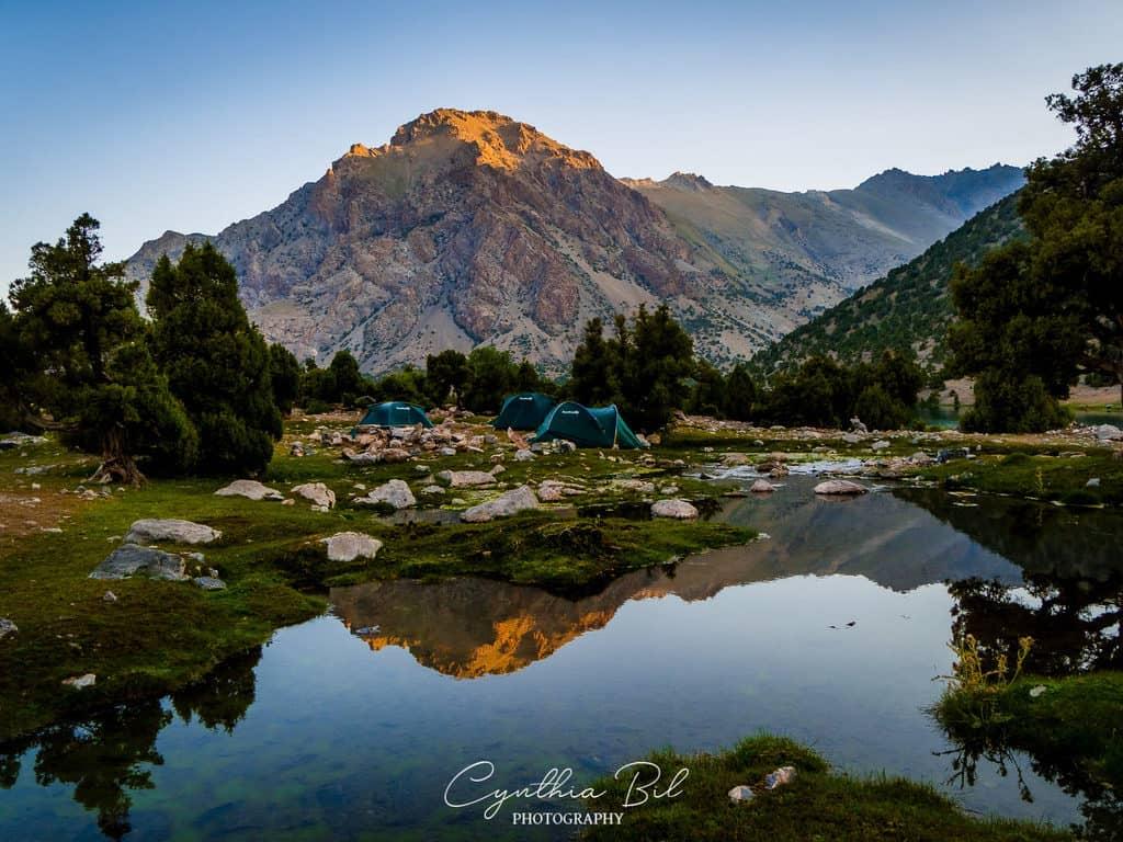 Camping at Kulikalon Lakes Fann Mountains Tajikistan