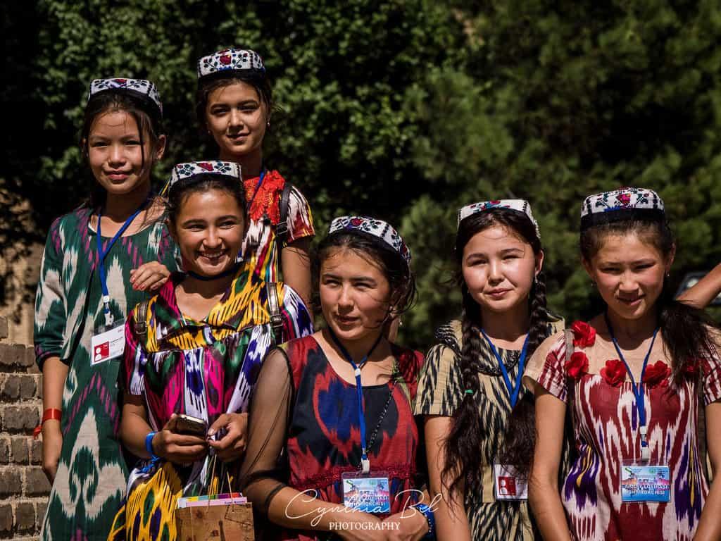 Samarkand Uzbekistan University Boulevard students