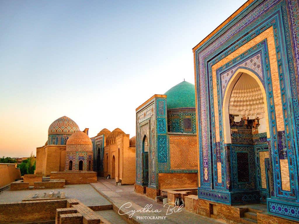 Sunset Shah-i-Zinda Samarkand Uzbekistan