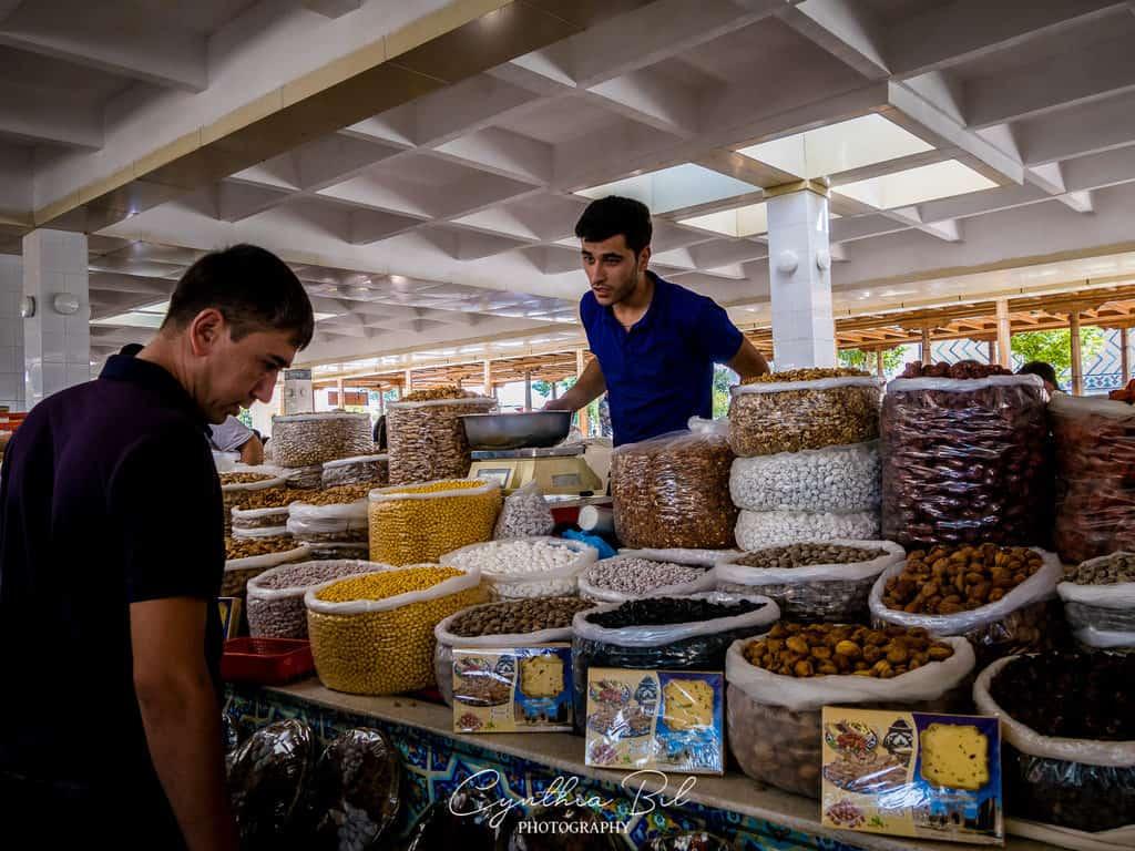 Siyob Bazaar - places to visit Samarkand Uzbekistan