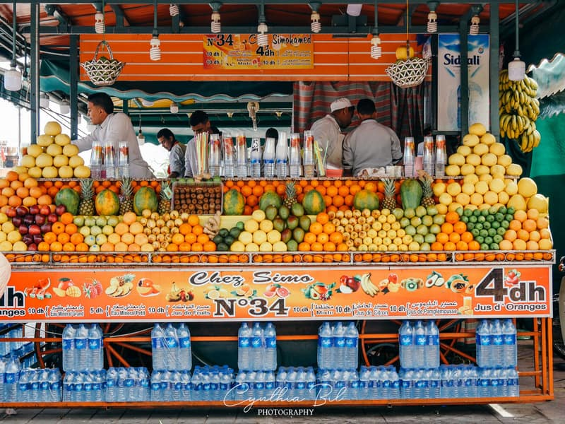 fruit juice in Marrakech