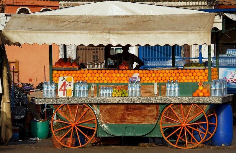 fruit juice stand - Jemaa el Fena square Marrakech