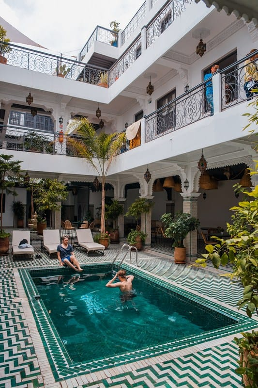 riad with a pool - where to stay in Marrakech - morocco