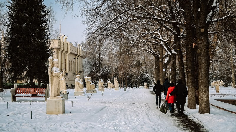 Oak park in winter - Awesome places to visit in Bishkek