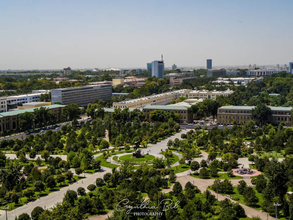 Hotel Uzbekistan View over Tashkent city