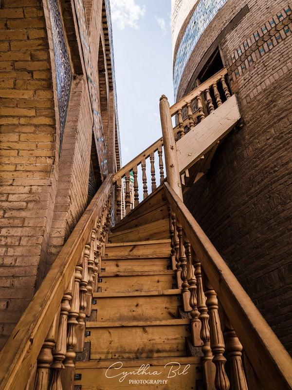 climbing the Islam Khoja minaret