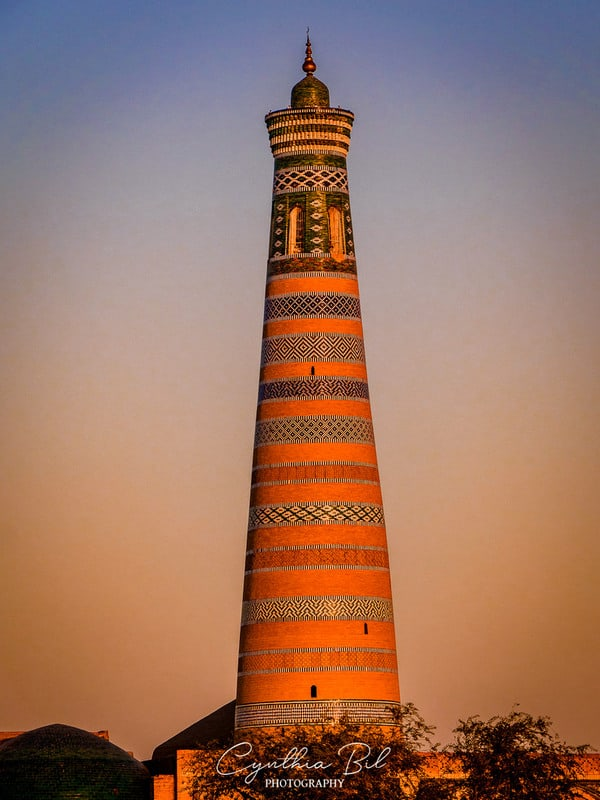 things to do Khiva - visit Islam Khoja minaret
