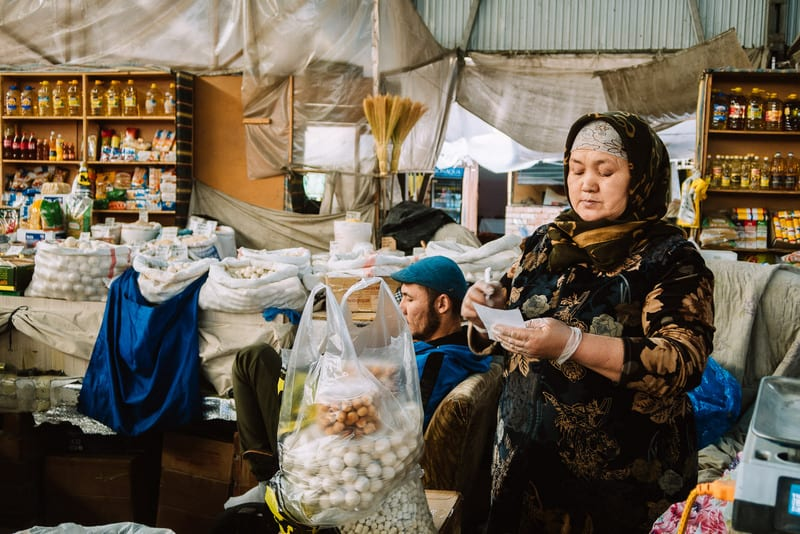 places to visit in Bishkek - visit the Osh bazaar