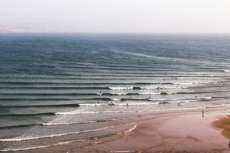 surfing conditions in Morocco