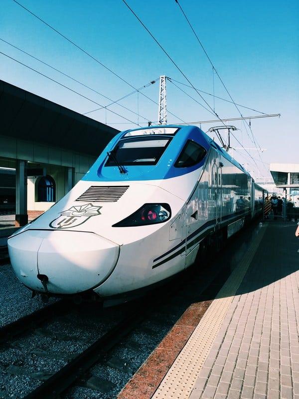 taking trains in Uzbekistan