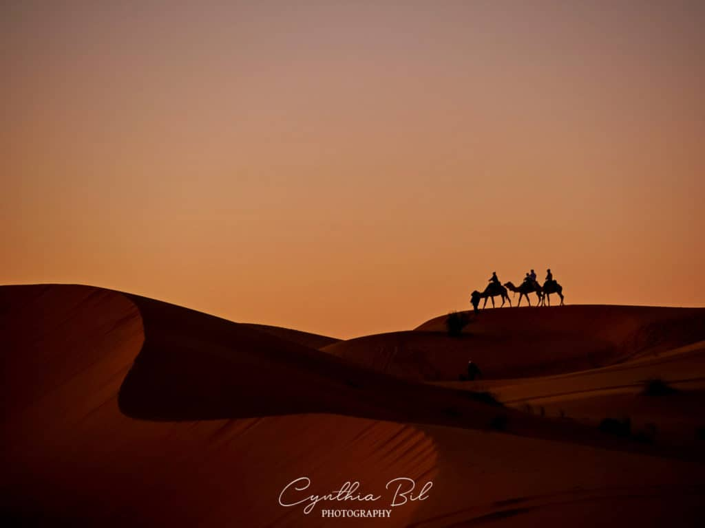 The best places to visit in Morocco - The Sahara Desert - sunset in the desert - Merzouga - Journal of Nomads
