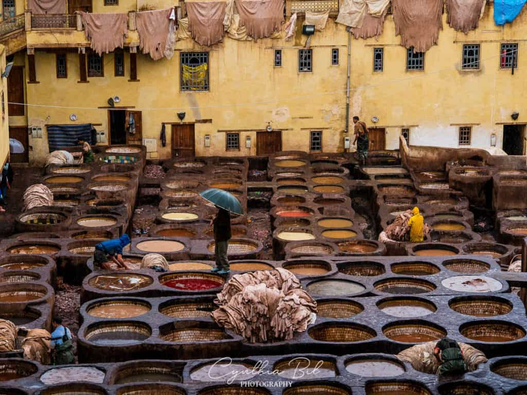 Best places to visit in Morocco - Tanneries in Fez