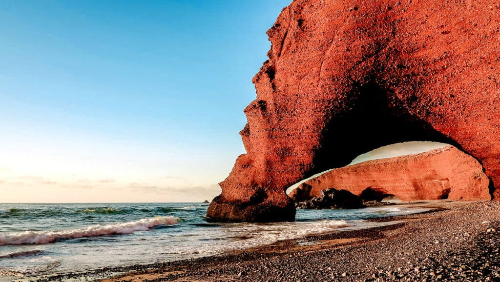 Legzira Beach Arch Morocco - places to visit Morocco