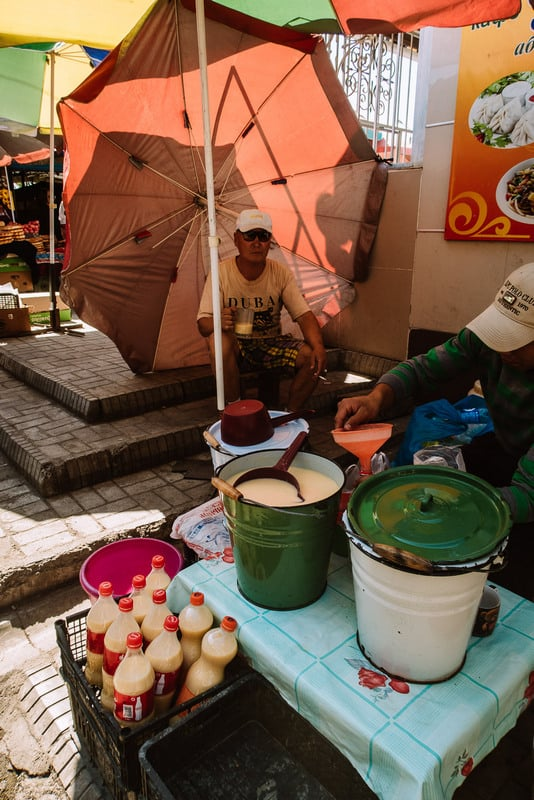 traditional Kyrgyz drinks found at Osh Bazaar