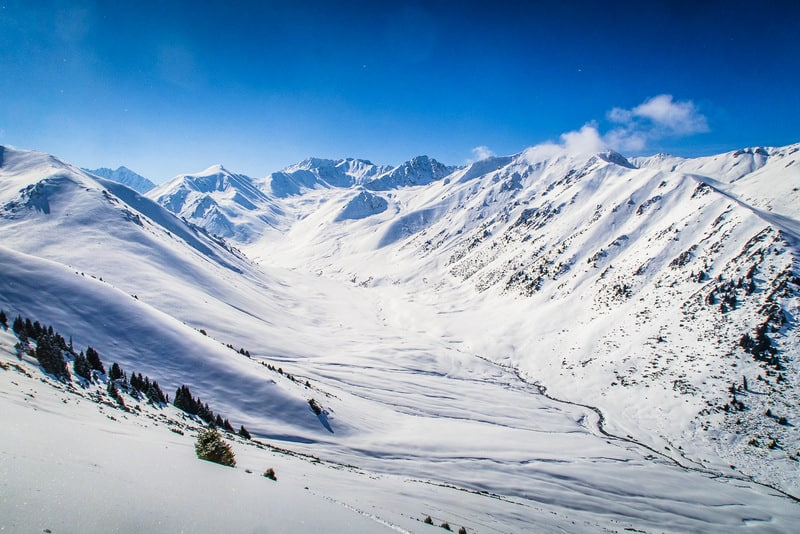 Why visit Kyrgyzstan in winter - landscapes of Kyrgyzstan