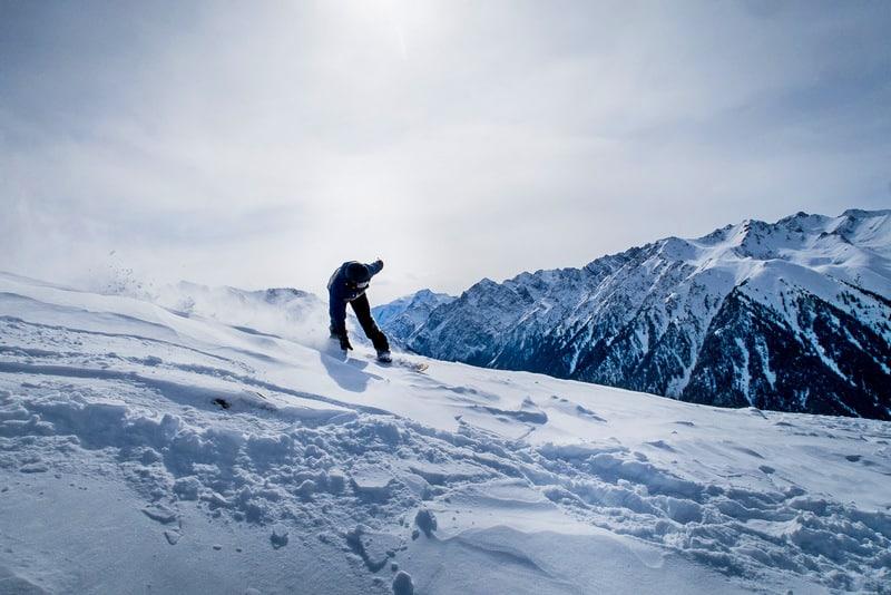 snowboarding in Kyrgyzstan